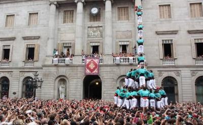 Castellers de Vilafranca. Els Castellers de Vilafranca actuen aquest diumenge a Barcelona, en motiu de les Festes de la Mercè