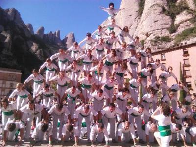 Falcons de Vilafranca. Els Falcons de Vilafranca a la romeria a Montserrat