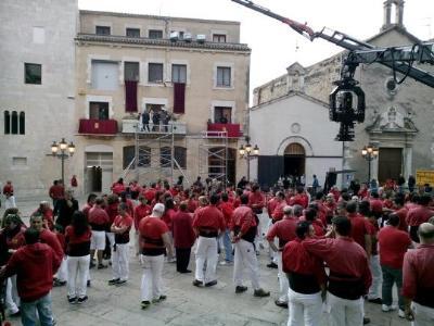 Xicots de Vilafranca. Els Xicots de Vilafranca viuen una jornada intensa d'enregistrament d'un anunci