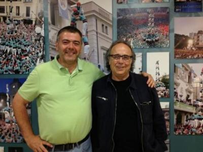 Castellers de Vilafranca. Joan Manuel Serrat a Cal Figarot amb els Verds
