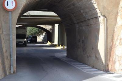 Ajuntament de Sitges. S'inicien les obres del túnel de Vallbona a Les Botigues de Sitges