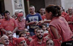 Aina Mallol, cap de colla dels Xicots de Vilafranca