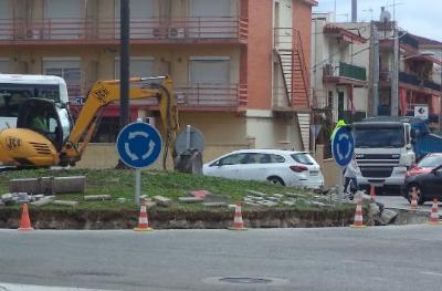 Ajuntament de Cunit. Comencen les obres per evitar les inundacions a la C-31 a Cunit