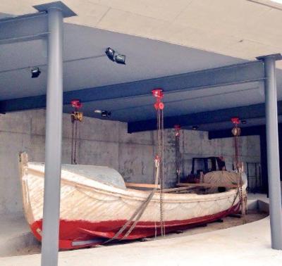 Ajuntament de Vilanova. El bot de salvament Víctor Rojas estrena emplaçament al Far de Vilanova