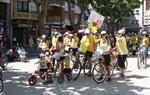 """Festa de la Bicicleta 2015. Premi de 250 euros al grup de l'escola bressol El Puig, sota el títol """"Lleons"""""""