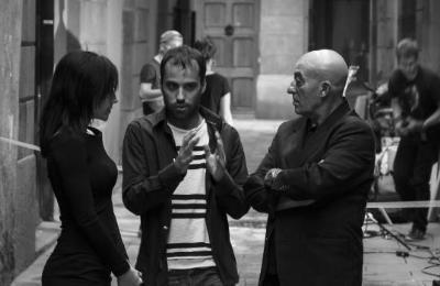 Gonzalo Gonzalez Undurraga donant instrucions als actors. Eix