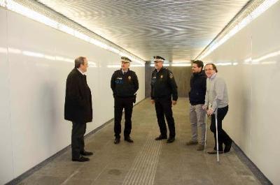 Ajuntament de Calafell. Instal.len més càmeres de vigilància a l'estació de tren de Segur de Calafell
