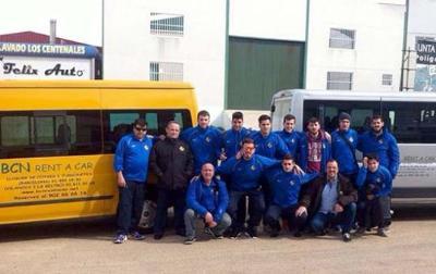 CP Vilanova. L'equip a l'arribada a Burguillos