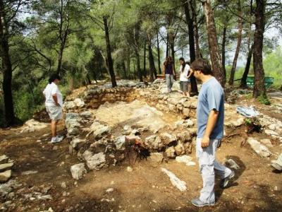 Les excavacions al Pla dels Albats. Ajuntament d'Olèrdola