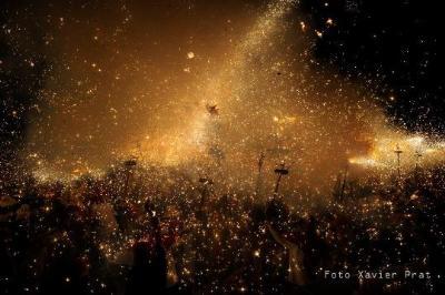 Sostre de foc a la plaça de la Vila. Xavier Prat