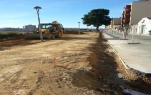 Visita del govern de Vilafranca a les obres del passeig Rafael Soler