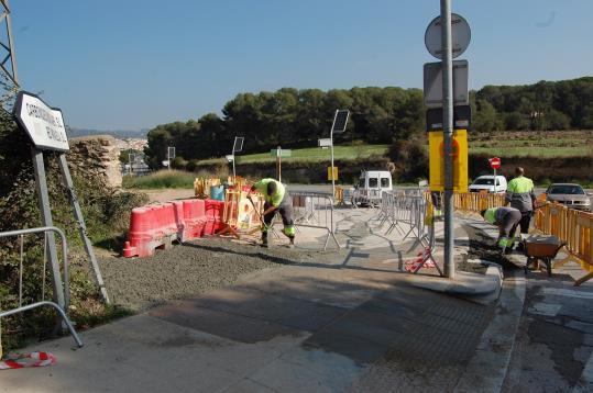 Comencen les obres a l'aparcament gratuït de l'hospital de Sant Camil. Ajt Sant Pere de Ribes