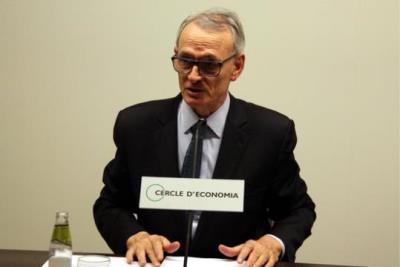 El President del Cercle d'Economia, Antón Costas, durant la presentació de l'Opinió d'Actualitat. ACN