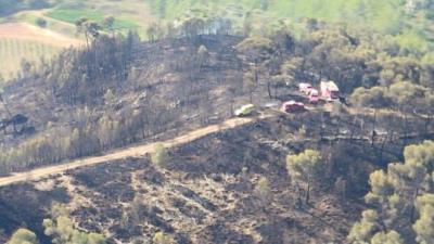 Estabilitzat l'incendi forestal d'Olivella. Ajuntament d'Olivella