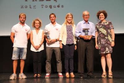 Josep Aiza i l'ONG Open Arms reben el premi Roig Toqués. Ajuntament de Vilanova