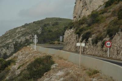 La carretera de les Costes es convertirà en platço de rodatge aquest divendres. Ajuntament de Sitges