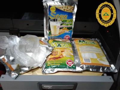 La policia de Cubelles intervé dos quilos de cocaïna amagada en bosses de complements alimentaris. Ajuntament de Cubelles