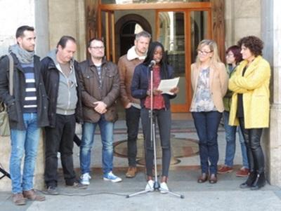Lectura del manifest en contra de la mutilació genital femenina a l'Ajuntament de Vilanova i la Geltrú. Ajuntament de Vilanova