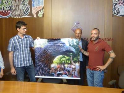 Presentació del projecte d'embelliment d'aparadors de comerços per Festa Major de Vilafranca. Ajuntament de Vilafranca