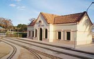 Un circuit de trens en miniatura al parc de Ribes Roges