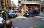Accident de trànsit a la cruïlla entre el carrer Josep Coroleu i el carrer Recreo