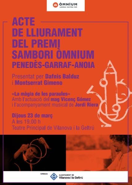 Premis Sambori Òmnium de la demarcació Penedès - Garraf - Anoia