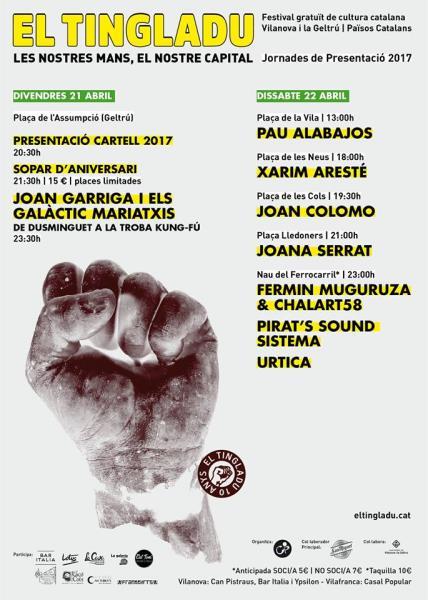Concerts de presentació d'El Tingladu 2017