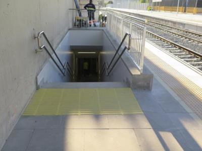 Aquesta setmana ha començat a funcionar el pas soterrat de l'estació de Santa Margarida i els Monjos. EIX