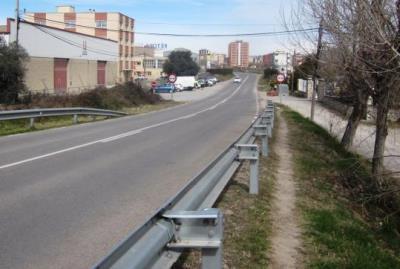 Comencen les obres del camí de vianants entre Vilafranca del Penedès i Moja. Diputació de Barcelona