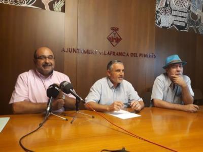 D'esquerra a dreta: Joan Tarrada, Pere Regull i Pere Pons. Roger Vives