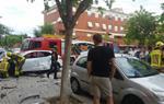 Dues persones ferides en un accident al nucli urbà a Vilanova