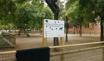 En funcionament el tercer espai de lleure per a gossos a Vilanova. Ajuntament de Vilanova