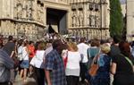La basílica de Santa Maria de Vilafranca es queda petita per dir l'últim adéu a Pau Pérez
