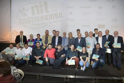 La Nit de la Gastronomia de Vilanova ret homenatge a Miquel Gatell, Julián Mansilla, Santi Coll i Abraham Martínez. Ajuntament de Vilanova