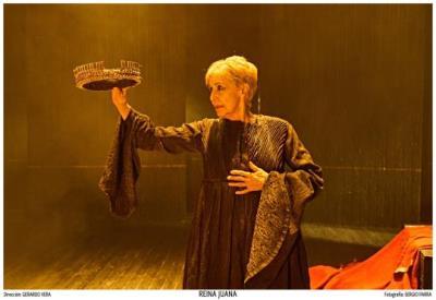 L'actriu Concha Velasco serà la Reina Juana, aquest dissabte a Vilafranca. ACN