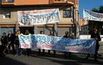 Mobilitzacions a l'estació de Vilanova en defensa dels 8 acomiadats