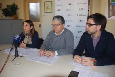 Montse Prats, Joan Martorell i Jordi Palacios, a l'IMET. Míriam de Lamo