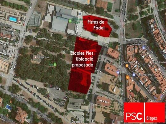 Posicionament sobre la nova ubicaci de l 39 escola pia de sitges for Piscina municipal sitges