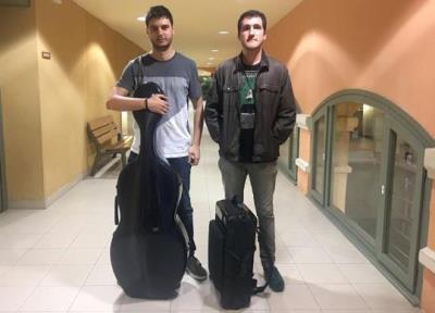 Sergi Huerta (violoncel) i Guillem Serra (trompa) . Eix