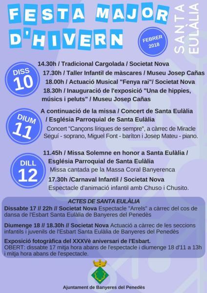 Festa Major d'Hivern de Santa Eulàlia a Banyeres del Penedès