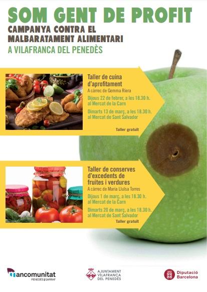 """Tallers de cuina dins la campanya """"A Vilafranca, som gent de profit"""""""