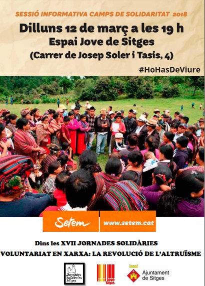 Les Jornades Solidàries presenten una sessió informativa sobre els camps de solidaritat de SETEM
