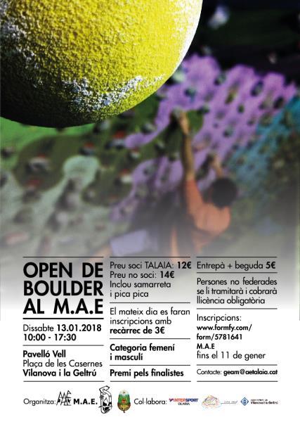 Open de Boulder al M.A.E