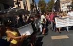 Cadena humana a Vilanova i la Geltrú per commemorar l'1-O