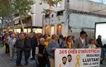 Centenars de persones es mobilitzen a Vilanova pel primer aniversari de l'empresonament dels Jordis