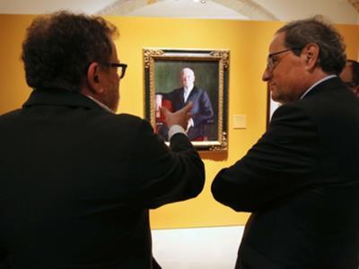 El president de la Generalitat, Quim Torra, ha inaugurat l'exposició