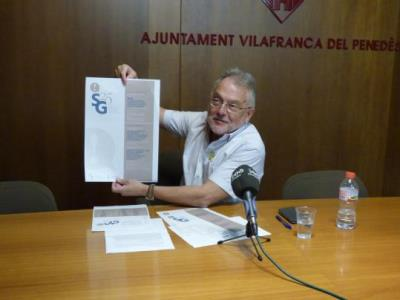 El Síndic de Greuges de Vilafranca, Jaume Rafecas. Ajuntament de Vilafranca