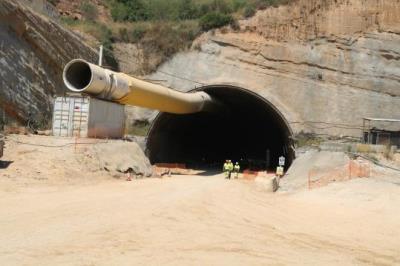 Imatge de l'entrada al túnel d'Olesa de la B-40 el 20 de juny de 2017. ACN