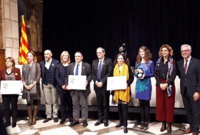 La Generalitat lliura el premi a la millor experiència turística al Camí del Vi de Vilafranca. Ajuntament de Vilafranca
