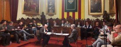 L'Ajuntament de Vilafranca aplicarà el romanent de tresoreria per seguir urbanitzant la llosa de la via. Roger Vives